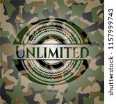 unlimited on camouflage texture | Shutterstock .eps vector #1157999743
