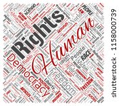 vector conceptual human rights... | Shutterstock .eps vector #1158000739