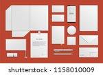 vector blank mockup set of...   Shutterstock .eps vector #1158010009
