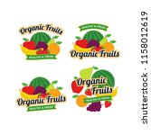 organic fresh fruits logo... | Shutterstock .eps vector #1158012619