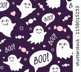 halloween festive seamless...   Shutterstock .eps vector #1158015253