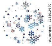 crystal snowflake and circle...   Shutterstock .eps vector #1158019570
