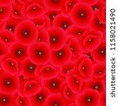 papaver rhoeas seamless... | Shutterstock .eps vector #1158021490