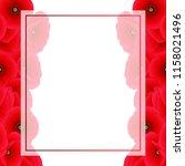 papaver rhoeas banner card... | Shutterstock .eps vector #1158021496