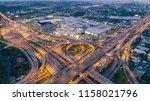 aerial view highway road... | Shutterstock . vector #1158021796