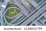 aerial view highway road... | Shutterstock . vector #1158021799
