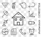 set of 13 transparent icons... | Shutterstock .eps vector #1158027316
