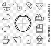 set of 13 transparent icons... | Shutterstock .eps vector #1158036856