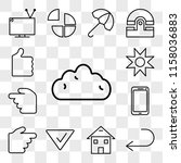 set of 13 transparent icons... | Shutterstock .eps vector #1158036883