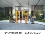 hotel entrance. | Shutterstock . vector #115804120