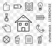 set of 13 transparent icons... | Shutterstock .eps vector #1158042433