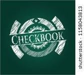 checkbook chalkboard emblem... | Shutterstock .eps vector #1158043813