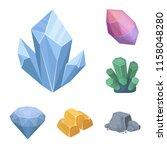 precious minerals cartoon icons ... | Shutterstock .eps vector #1158048280
