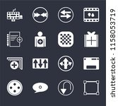 set of 16 icons such as cutting ...