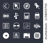 set of 16 icons such as checke  ...