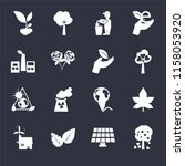 set of 16 icons such as tree...