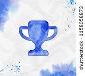 champions watercolor icon.... | Shutterstock .eps vector #1158058873