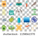 set of 20 transparent icons... | Shutterstock .eps vector #1158061570