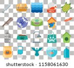 set of 20 transparent icons... | Shutterstock .eps vector #1158061630