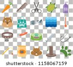 set of 20 transparent icons... | Shutterstock .eps vector #1158067159