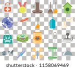 set of 20 transparent icons... | Shutterstock .eps vector #1158069469