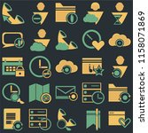 set of 25 icons such as browser ...