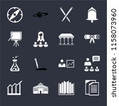 set of 16 icons such as copy ...