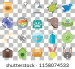 set of 20 transparent icons... | Shutterstock .eps vector #1158074533