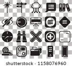 set of 20 transparent icons...