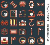set of 25 icons such as racing  ...
