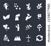 set of 16 icons such as recycle ...