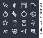 set of 16 icons such as zoom ...