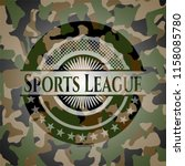 sports league camo emblem | Shutterstock .eps vector #1158085780