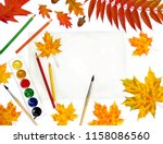 beautiful autumnal maple leaves ... | Shutterstock . vector #1158086560
