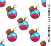 potion jar cartoon vector... | Shutterstock .eps vector #1158086890