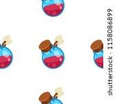potion jar cartoon vector... | Shutterstock .eps vector #1158086899