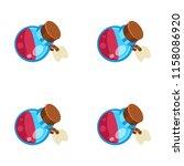potion jar cartoon vector... | Shutterstock .eps vector #1158086920