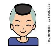 portrait icon  face. on white... | Shutterstock .eps vector #1158087373