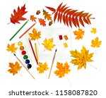beautiful autumnal maple leaves ... | Shutterstock . vector #1158087820