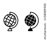world globe line and glyph icon.... | Shutterstock .eps vector #1158089500