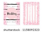 bridal shower card with dots... | Shutterstock .eps vector #1158092323