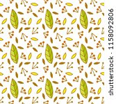 autumn pattern with doodle... | Shutterstock .eps vector #1158092806