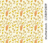 autumn pattern with doodle... | Shutterstock .eps vector #1158092809