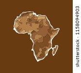 sketch african continent banner.... | Shutterstock .eps vector #1158094903