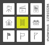 set of 9 icons  for web ...