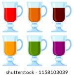 colorful cartoon various...   Shutterstock . vector #1158103039