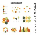 infographic elements  annual... | Shutterstock .eps vector #1158104449