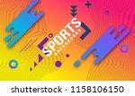 bright modern dynamic geometric ... | Shutterstock .eps vector #1158106150