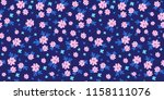 cute seamless pattern with... | Shutterstock . vector #1158111076