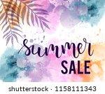summer sale   handwritten text... | Shutterstock .eps vector #1158111343